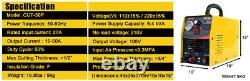 110/230V Dual Voltage 50Amp Pilot Arc Air Plasma Cutter Pro Cutting Machine