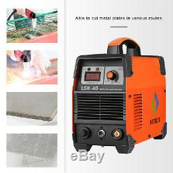 220V Plasma Cutter 40A Air CUT40 Plasma Cutting Machine Unit 1/2 inch HITBOX