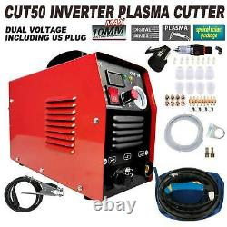 50 AMP Plasma Cutter CUT50 Welding Cutting Machine Digital Inverter 110/220V 10A