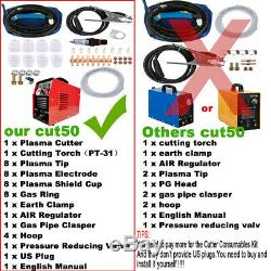 50 Amp Plasma Cutter, Pro. Cutting Machine, 110/220V Dual Voltage CUT-50 US