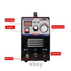 50A Air Plasma Cutter Machine HF Start Digital DC Inverter Clean Cut 10/220V US