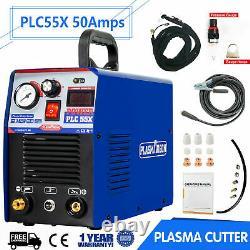 50A IGBT Air Plasma Cutter DC Inverter Cutting Machine PLC55X Clean Cut 110/220V