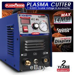 50A Plasma Cutter Machine Cut50 Inverter Air Pressure Gauge 14mm Plasma Cutting