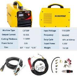 50A Plasma Cutter Pilot Arc Non-touch Clean Cut 3/4-Inch P80 Torch 110/220V DIY