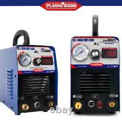 60A Plasma Cutter Machine HF Start & Pilot Arc CNC Compatible Clean Cut 110/220V