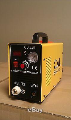 CAL Electric Plasma Cutter 50AMP CUT50 Inverter 220V & 35 Nickel Plated Consuma