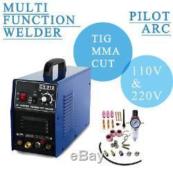 CT418/CT418 Pilot Arc TIG/MMA/CUT Air Plasma Cutter Welding Machine 110/220V