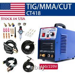 CT418 TIG/MMA/Cut 3IN1 Air Plasma Cutter Welder Welding Machine & Torches