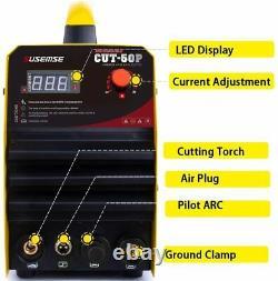 CUT-50P 50A Digital Air Plasma Cutter Machine Non-touch Pilot Arc & Accessories