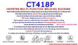 CUT/TIG/MMA Welder Welding Machine Plasma Cutter CT418P 110/220V High Quality
