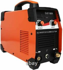 CUT50A Inverter Non touch HF Plasma Cutter with SG55 Torch Air Filter 110V 45A