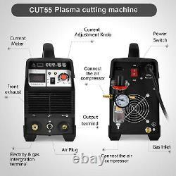CUT55 Air Plasma Cutter Digital Inverter 220V 40A Plasma Cutting Welding Machine