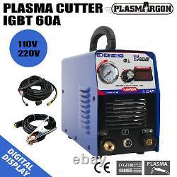 CUT60 60Amp Air Plasma Cutter Machine & AG60 Plasma Cutting Torch 110/220V