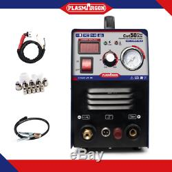IGBT Pilot Arc Plasma Cutter CUT50P CUTTING machine Dual Voltage & Consumables