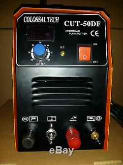 Non-Touch Pilot Arc Plasma Cutter CUT50DF 50AMP 110V/220V Dual & 18 Consumables