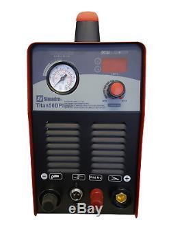 PLASMA CUTTER IGBT PILOT ARC 52 CONS SIMADRE 50DPi 50A 110V/220V 1/2 CUT EASY