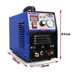 Plasma Cutter 50A Pilot Arc CUT50P Plasmargon NonTouch Inverter Dual Voltage