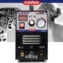 Plasma Cutter 50Amp 110/220V Dual Voltage HF Compact Metal 1-14mm Clean Cut 60HZ