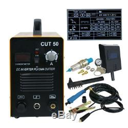 Plasma Cutter CUT50 50Amp Digital Inverter 110/220V Dual Voltage Plasma Cutter
