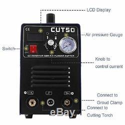 Plasma Cutter Digital Display Cut50 Inverter 50A Air Pressure Gauge 1-14mm cut
