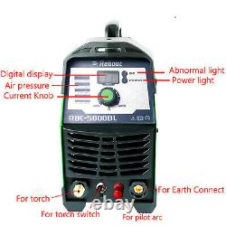 REBOOT CUT50DL 50Amp Non-Touch Pilot Arc Plasma Cutter, 110V/220V IGBT Inverter