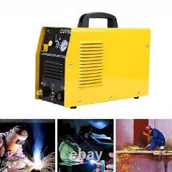 Yellow CUT 50 Plasma Cutter Touch Pilot Arc Torch Cutting Machine Portable